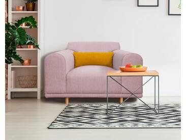 andas Sessel/Loveseat »Maroon« in skandinavischem Design, mit losem Kissen, rosa, rose