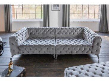 KAWOLA Big Sofa Chesterfield versch. Farben mit o. ohne Hocker »NARLA«, ohne Hocker