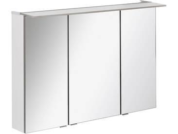 FACKELMANN Spiegelschrank »PE 100 - weiß«, Breite 100 cm, 3 Türen, silberfarben, silberfarben