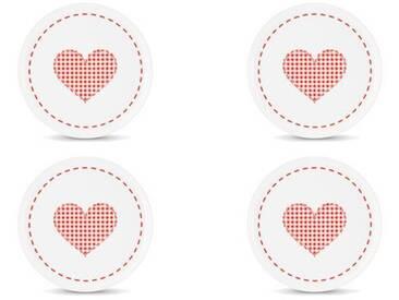 FRIESLAND 4er Set Frühstücksteller Herz 19cm »Happymix«, weiß, Weiß