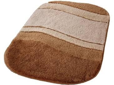 Kleine Wolke Badematte »Siesta« , Höhe 25 mm, rutschhemmend beschichtet, fußbodenheizungsgeeignet, braun, 25 mm, bambusbeige