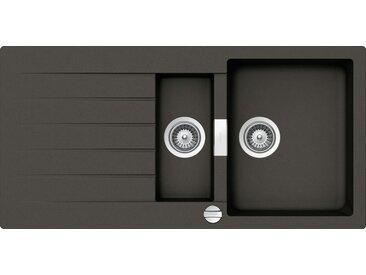 Schock SCHOCK Granitspüle »Family Plus«, mit Restebecken, 100 x 50 cm, grau, Asphalt