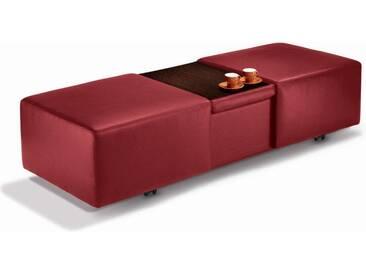 W.SCHILLIG XXL Hocker mit Stauraum »taboo« ausziehbar, inklusive Zwischenablage, rot, ruby red