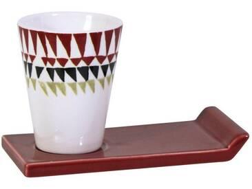 CULTDESIGN Cult Design Glühwein Becher Retro, schwarz, rot, weiß