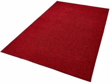 HANSE Home Teppich »Pure 100«, rechteckig, Höhe 13 mm, Velours, rot, 13 mm, rot