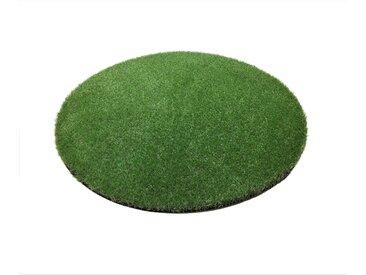 Living Line Outdoorteppich »Madeira Premium Kunstrasen«, rund, Höhe 32 mm, In- und Outdoor geeignet, grün, 32 mm, grün