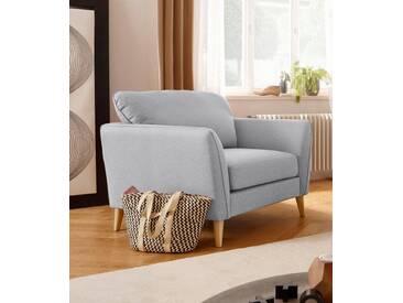 Home affaire Sessel »Marseille«, in skandinavischem Stil, in 3 Bezugsqualitäten, mit Holz-Beinen, grau, hellgrau