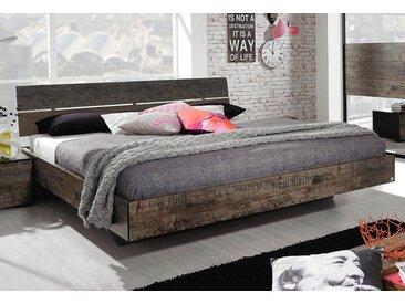 rauch Bett, braun, ohne Matratze, Kopfteil-Element mit Kunstlederbezug, schwarz, braun