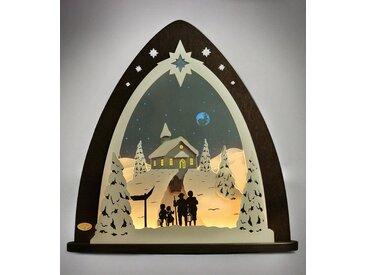 Weigla Lichterbogen »Bergkapelle«, in 3D Optik, schwarz, schwarz-natur