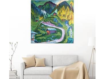 Posterlounge Wandbild - Ernst Ludwig Kirchner »Alpleben«, bunt, Holzbild, 100 x 100 cm, bunt