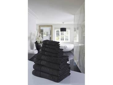 Emotion Handtuch Set »Uni«, mit großer Farbauswahl, grau, 8tlg.-Set, anthrazit