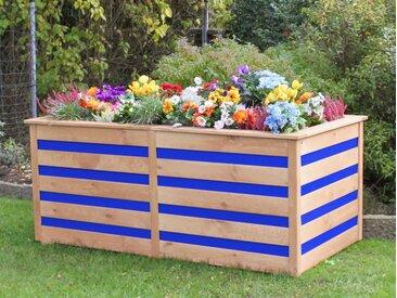 promadino Hochbeet »CYO«, BxTxH: 150x75x84 cm, honigbraun/blau, honigbraun/blau