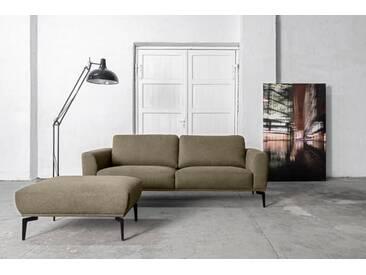 Places of Style 3-Sitzer »Odda«, 3-Sitzer mit Metallfüßen in besonderem Design, natur, 215 cm, beige