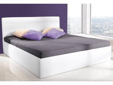 Westfalia Schlafkomfort Polsterbett, weiß, ohne Matratze kein Härtegrad, nur Bettgestell, weiß