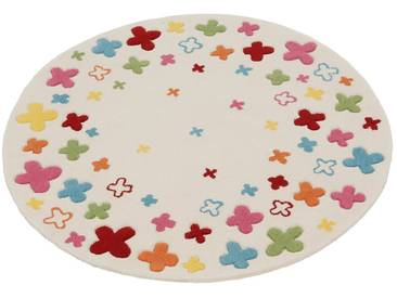 Esprit Kinderteppich »Bloom Field«, rund, Höhe 10 mm, natur, 10 mm, natur
