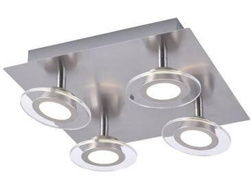 Leuchten Direkt LEUCHTEN DIREKT LED-Deckenleuchte, Quadratischer RGBW Spot 4-flammig »LOLA-MIKE«, silberfarben, stahlfarbig