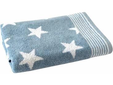Dyckhoff Badetuch »Stars«, mit Sternen & Streifen, blau, Walkfrottee, mittelblau
