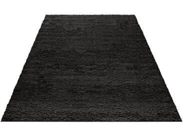 my home Hochflor-Teppich »Bodrum«, rechteckig, Höhe 30 mm, schwarz, 30 mm, schwarz