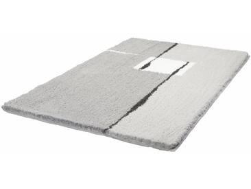 Kleine Wolke Badematte »Malaga« , Höhe 25 mm, rutschhemmend beschichtet, fußbodenheizungsgeeignet, grau, 25 mm, platinfarben