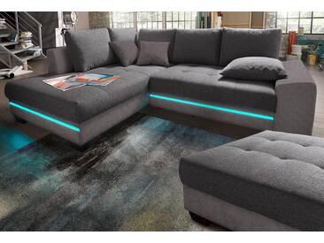 Nova Via Polsterecke, Mit Beleuchtung, Energieeffizienz: A, Grau, 240 Cm,