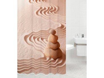 Sanilo SANILO Duschvorhang »Zen«, 180 x 180 cm, braun, sandfarben/stone