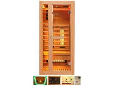 HOME DELUXE Infrarotkabine »Redsun S Deluxe«, 90x90x190 cm, natur, natur