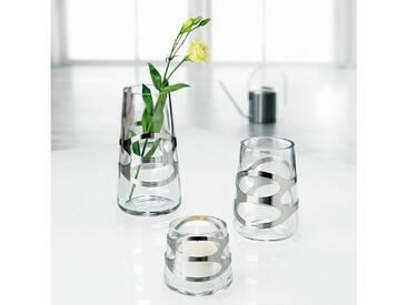 Stelton  Vase EMBRACE 16.5 cm, silberfarben, silber