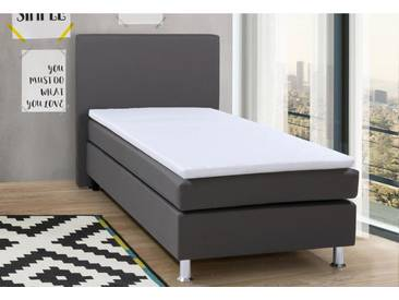 COLLECTION AB Collection AB Boxspringbett inkl. Topper, grau, grau uni, Webstoff