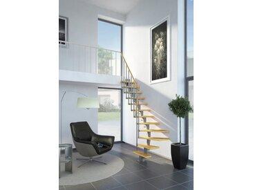 Dolle Systemtreppe »Dublin«, grau, Multiplexholz, 1/4 gewendelt, grau