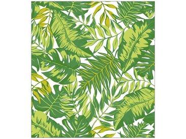 MySpotti MYSPOTTI Fensterfolie »mySPOTTI look Palm Leaves green«, 90 x 100 cm, statisch haftend, grün, 90 cm, grün/weiß
