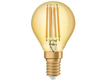 Osram LED-Lampe, Vintage-Edition, kleine Kolbenform »Vintage 1906 LED 36 4.5 W/825 E14 GOLD«, goldfarben, gold