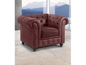 Premium collection by Home affaire Sessel »Chesterfield«, rot, dunkelrot