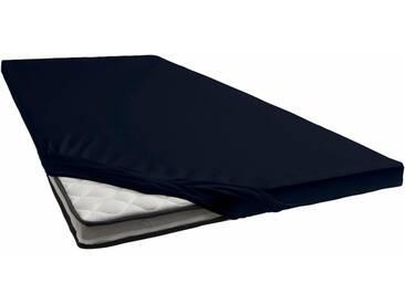 Janine Spannbettlaken »Jersey-Elasthan«, für Topper, schwarz, Jersey-Elasthan, schwarz