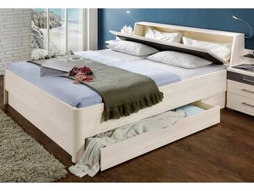 WIEMANN Bett »Lissabon«, in 2 Breiten, weiß, mit Bettkasten, polarlärche