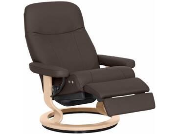 Stressless® Relaxsessel »Garda« mit Classic Base und LegComfort™, Größe L, mit Schlaffunktion, braun, Fuß naturfarben, chocolate