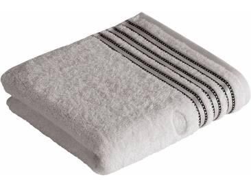 Vossen Handtücher »Cult de Luxe«, mit Glanzbordüre, grau, Walkfrottee, light grey