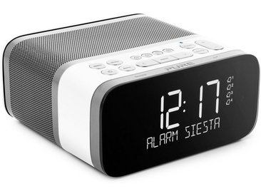 Pure Radiowecker »Siesta S6 (CrystalVue+-Display, Bluetooth, DAB/DAB«, weiß, polar