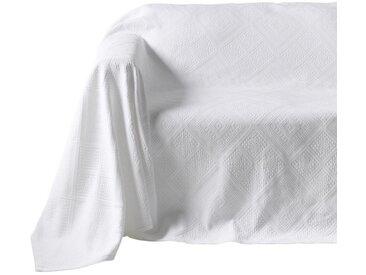 Pereira da Chuna PEREIRA DA CUNHA Sofaüberwurf mit Hoch-/Tief-Struktur, weiß, weiß