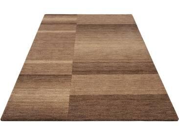Theko Exklusiv Teppich »Jorun«, rechteckig, Höhe 14 mm, von Hand gearbeitet, braun, 14 mm, braun