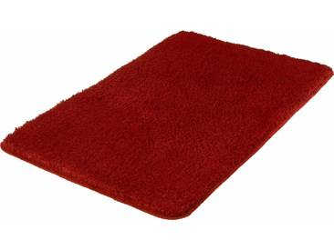 MEUSCH Badematte »Super Soft« , Höhe 23 mm, fußbodenheizungsgeeignet, strapazierfähig, rutschhemmender Rücken, rot, 23 mm, weinrot