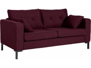 Max Winzer® 2-Sitzer Sofa »Timber« mit dekorativen Knöpfen, inklusive Zierkissen, rot, burgund
