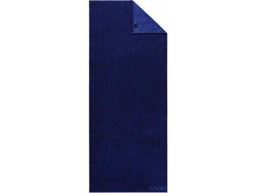 Joop! Saunatuch »Doubleface«, mit JOOP! Schriftzug, blau, Walkfrottee, saphir