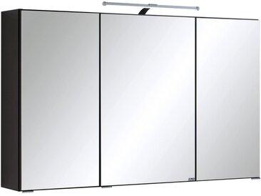 HELD MÖBEL Spiegelschrank »Cardiff«, Breite 100 cm, schwarz, graphitfarben