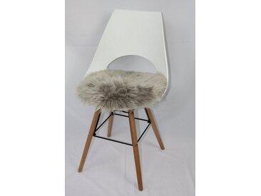 Heitmann Felle Sitzkissen »Sitzauflage Lamm rund«, echtes Lammfell, braun, taupe