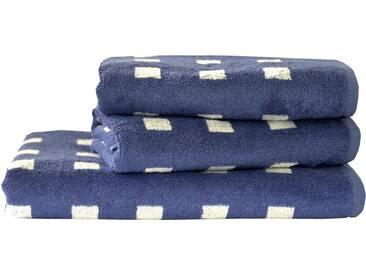 Dyckhoff Handtuch Set, »Vernice«, mit kleinen Karos versehen, blau, 3tlg.-Set (siehe Artikeltext), blau