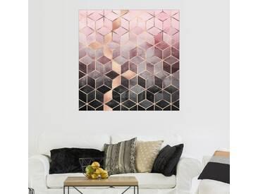 Posterlounge Wandbild - Elisabeth Fredriksson »Rosa und Graue Würfel«, bunt, Acrylglas, 120 x 120 cm, bunt