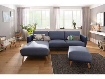 Home affaire Hocker »Ida« mit Holzfüßen, blau, blau