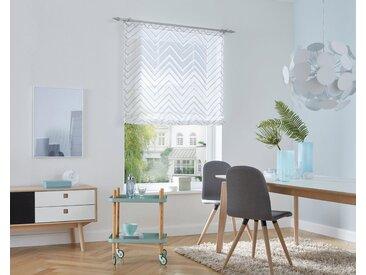 my home Selection Raffrollo »Terrassa«, mit Klettband, grau, Klettband, halbtransparent, grau