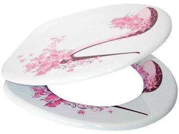 Sanilo SANILO WC-Sitz »Schuh«, mit Absenkautomatik, rosa/weiß