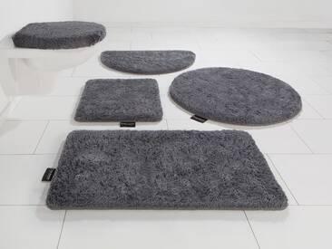Bruno Banani Badematte »Lana« , Höhe 25 mm, rutschhemmend beschichtet, fußbodenheizungsgeeignet, strapazierfähig, grau, 25 mm, rubber